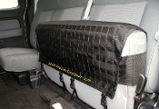 Ford Supercab Molle seat cover, rear drivers side