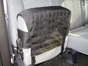 Ford Supercab Molle seat cover, rear passenger side